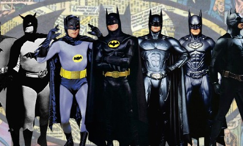 The evolution of the Batman costume on TV and in movies